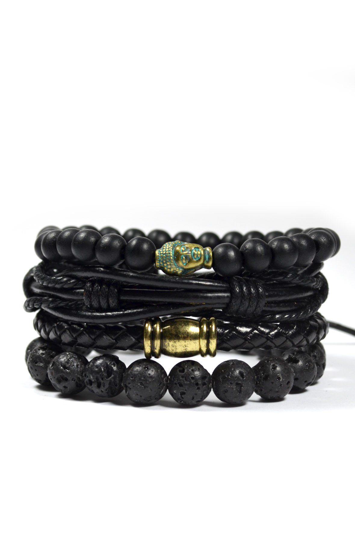 4 Pack Men's Bracelet Set / Raider