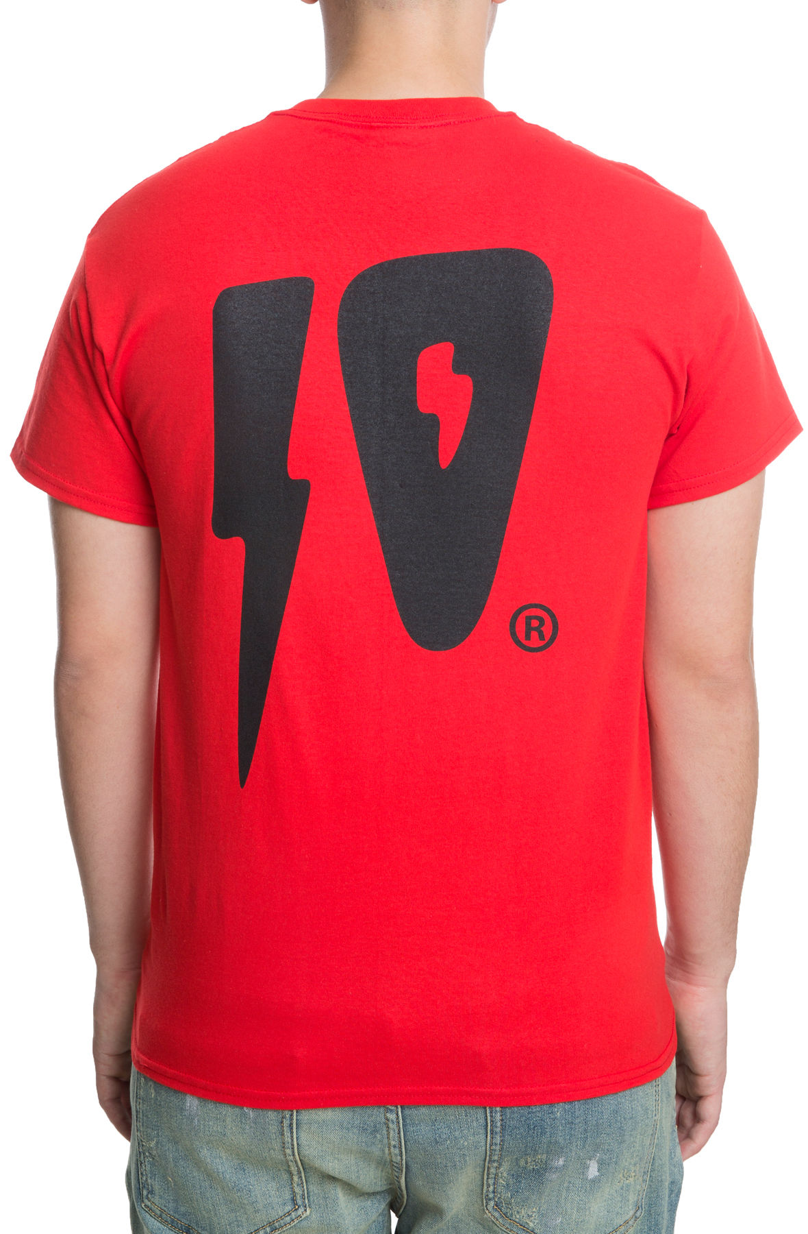 Image of The 10 Strikes S/S Tee in Red