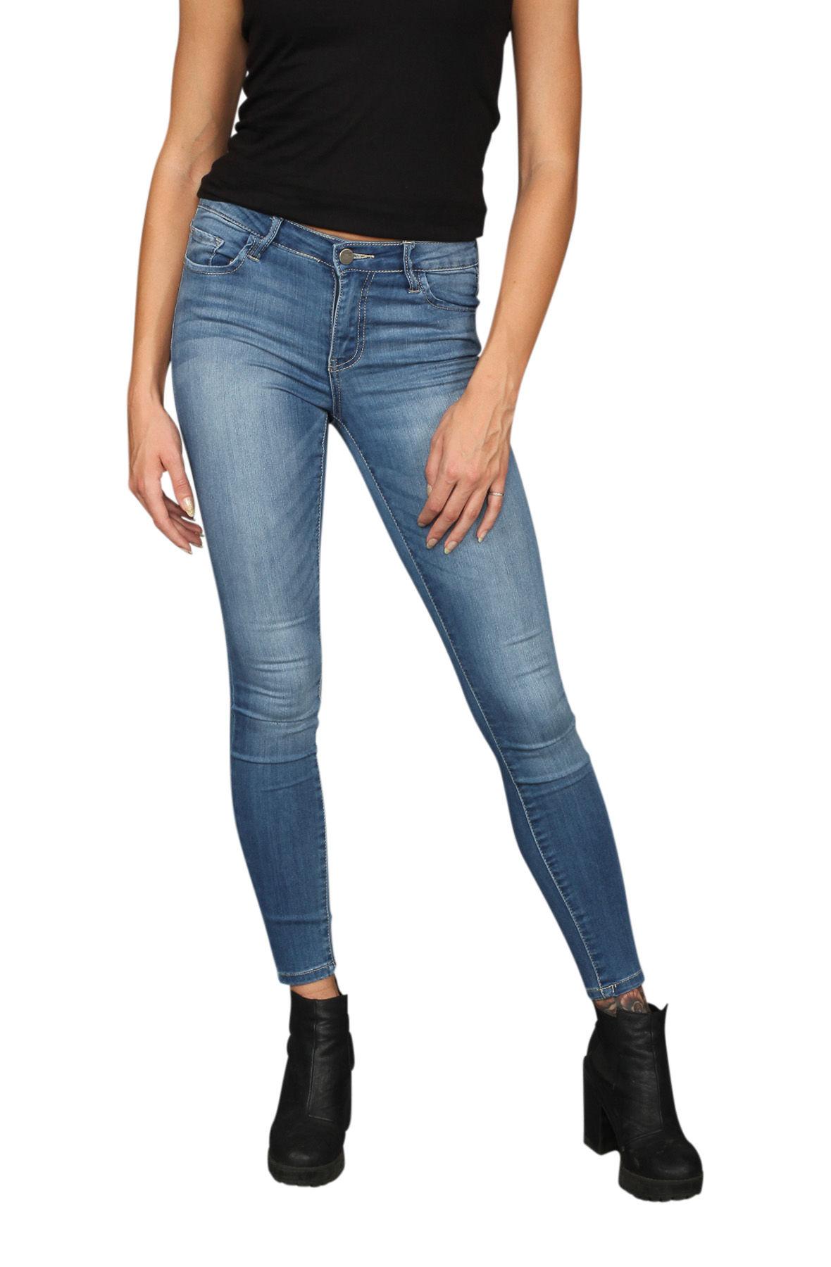 Image of Medium Denim Skinny Jeans