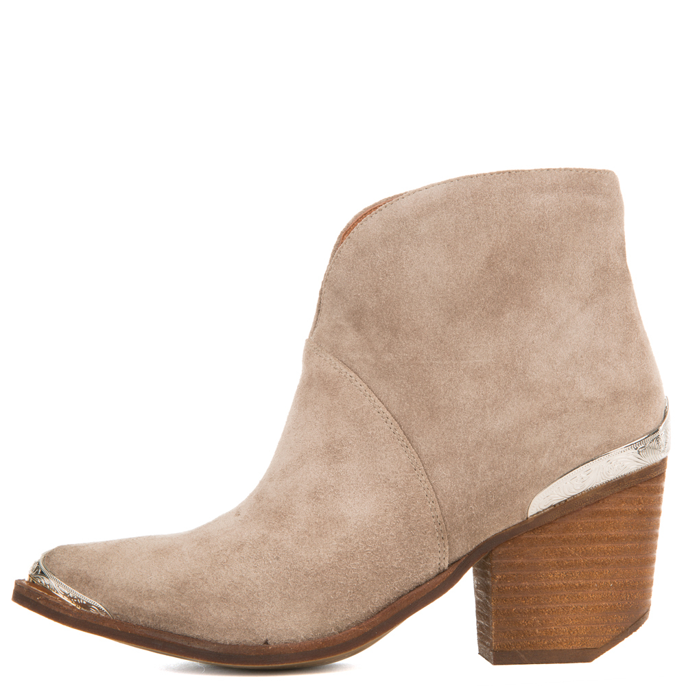 Image of Jeffrey Campbell for Women: Cahuenga Taupe Western Booties