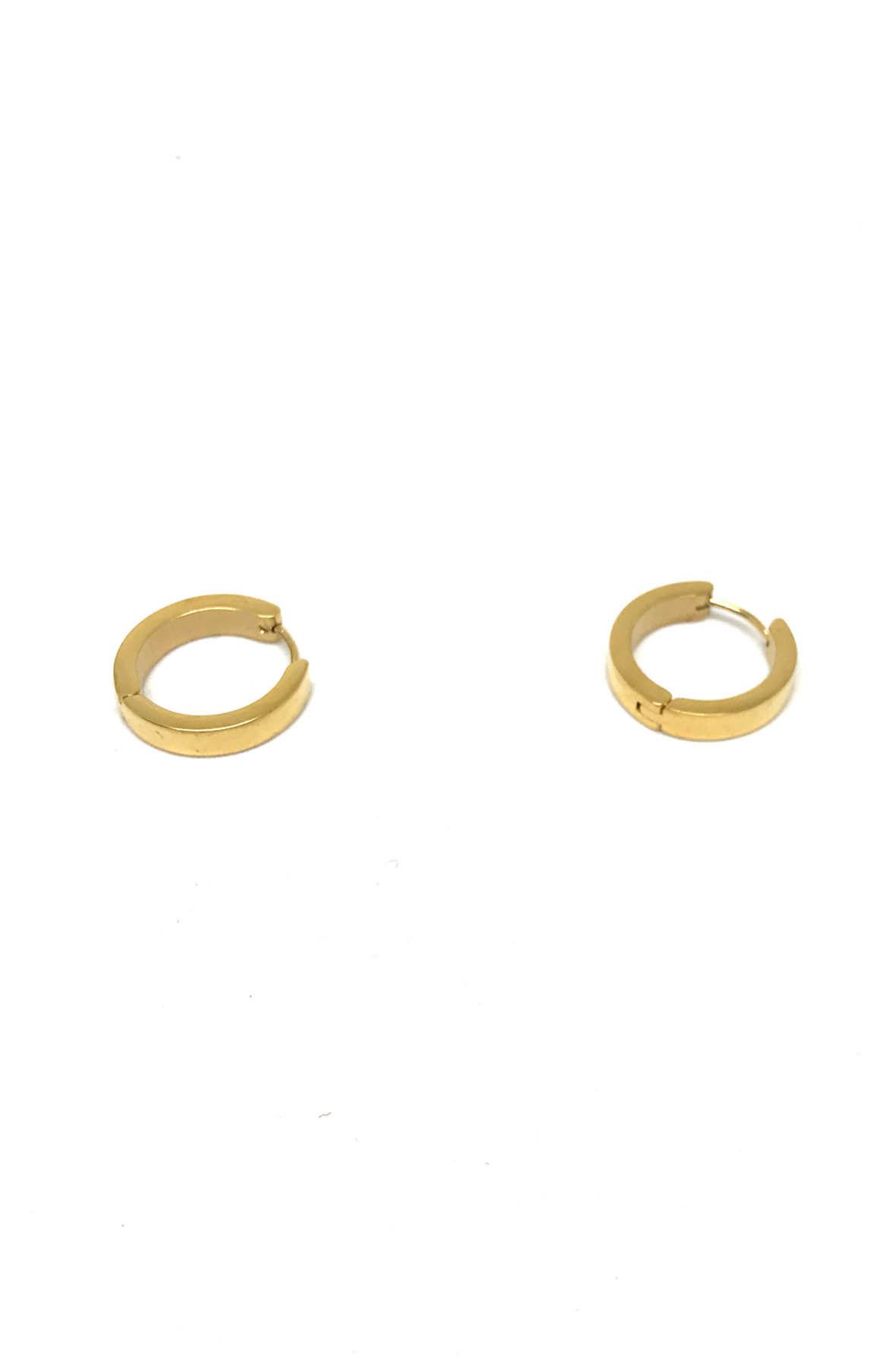 Stainless Steel Gold Hoop Earrings Big