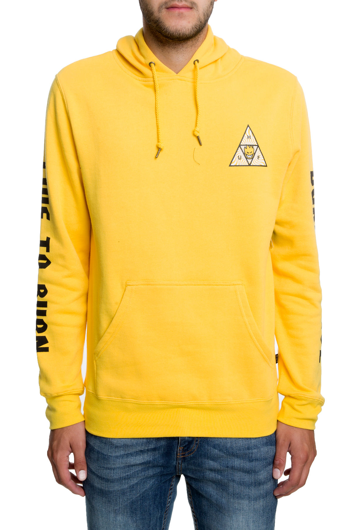 Image of The Spitfire Triangle Pullover Hoodie in Yellow