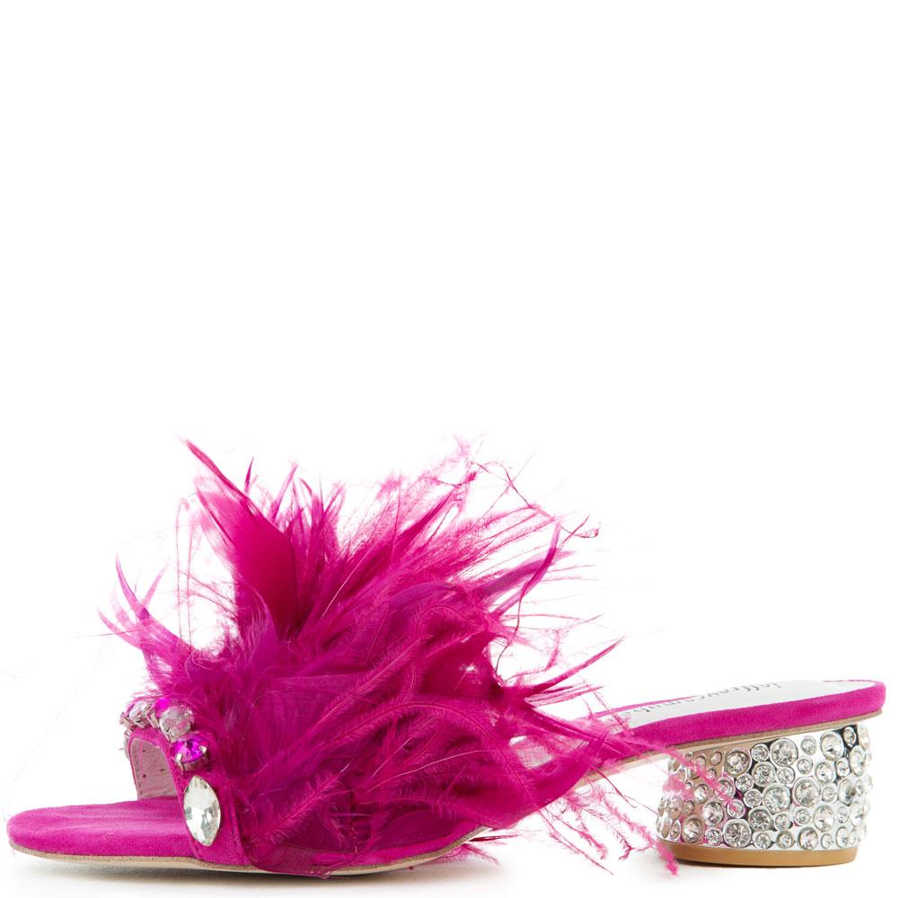 Zazu Feather/Rhinestone Heels