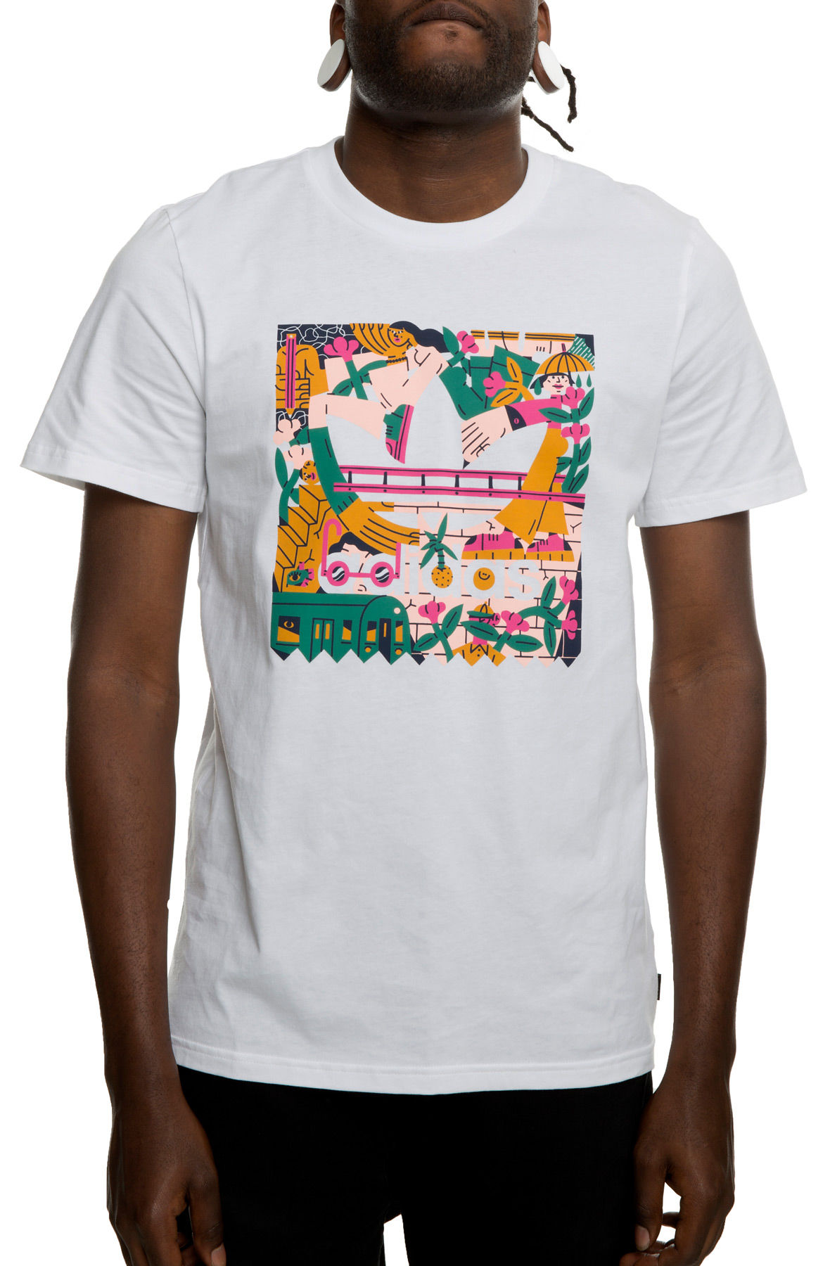 Image of Edgewood Tee in White and Pink