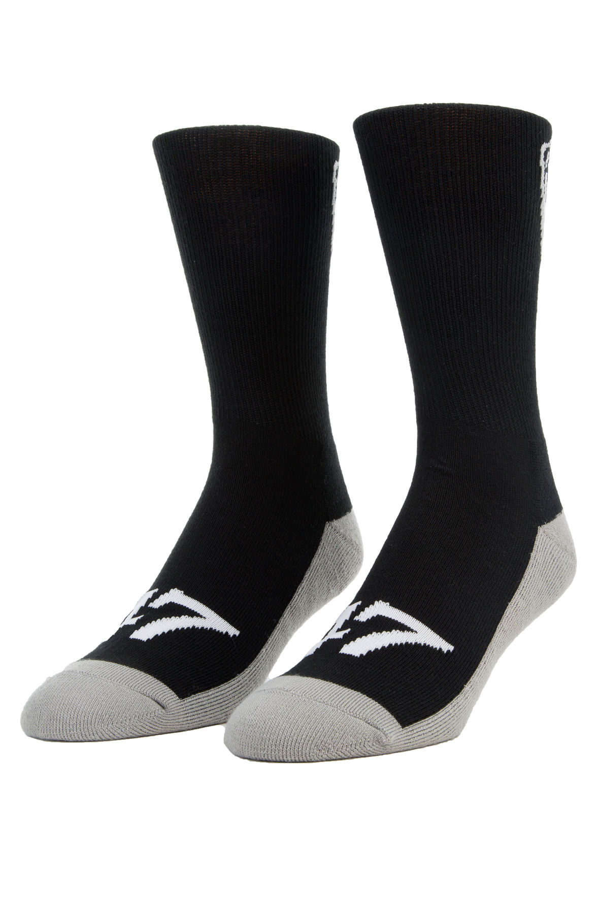 Image of The LRG crest crew socks in black and grey