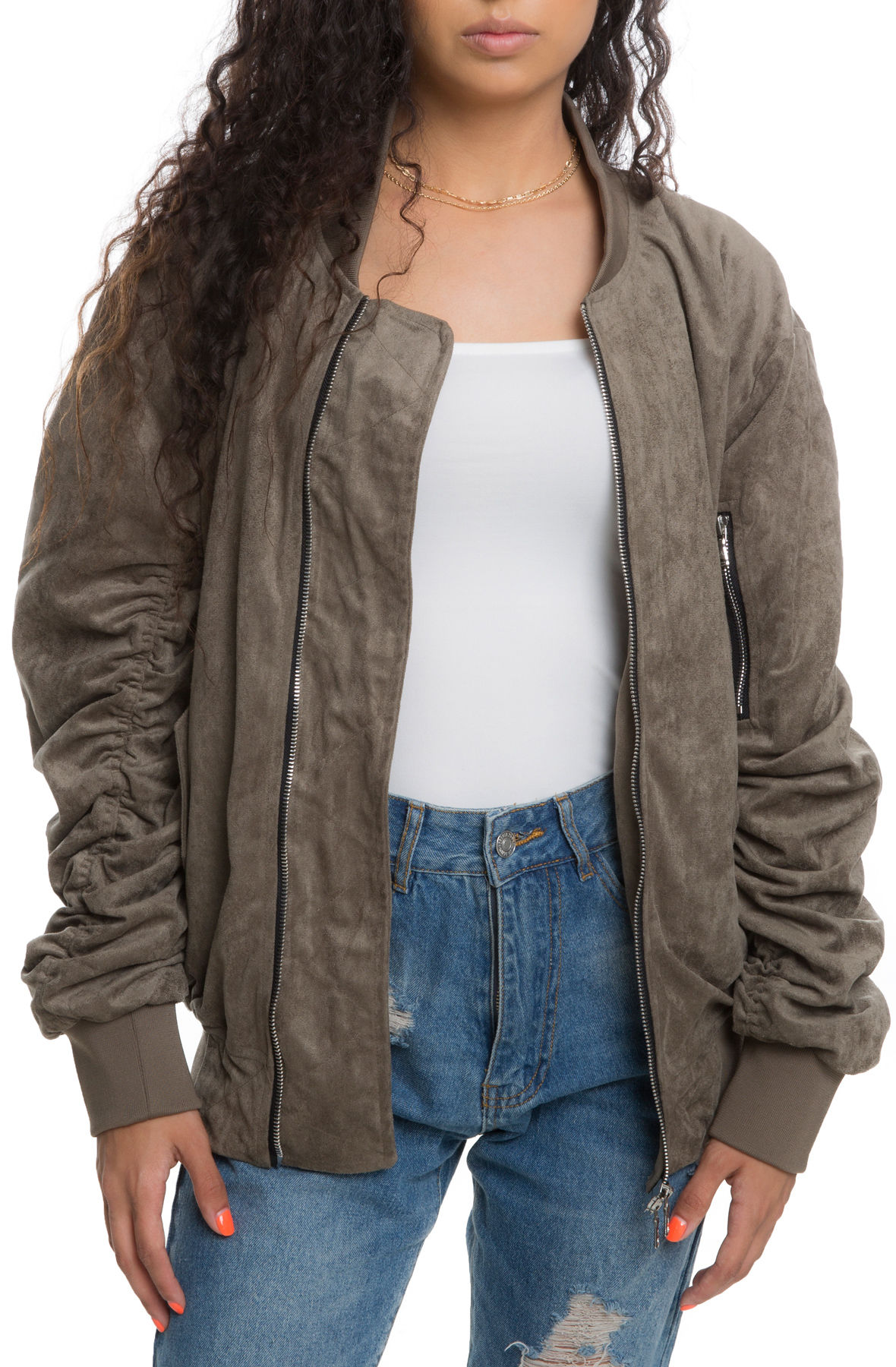 The Womens Bird Bomber In Olive