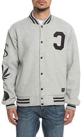 the pmw varsity jacket in heather grey