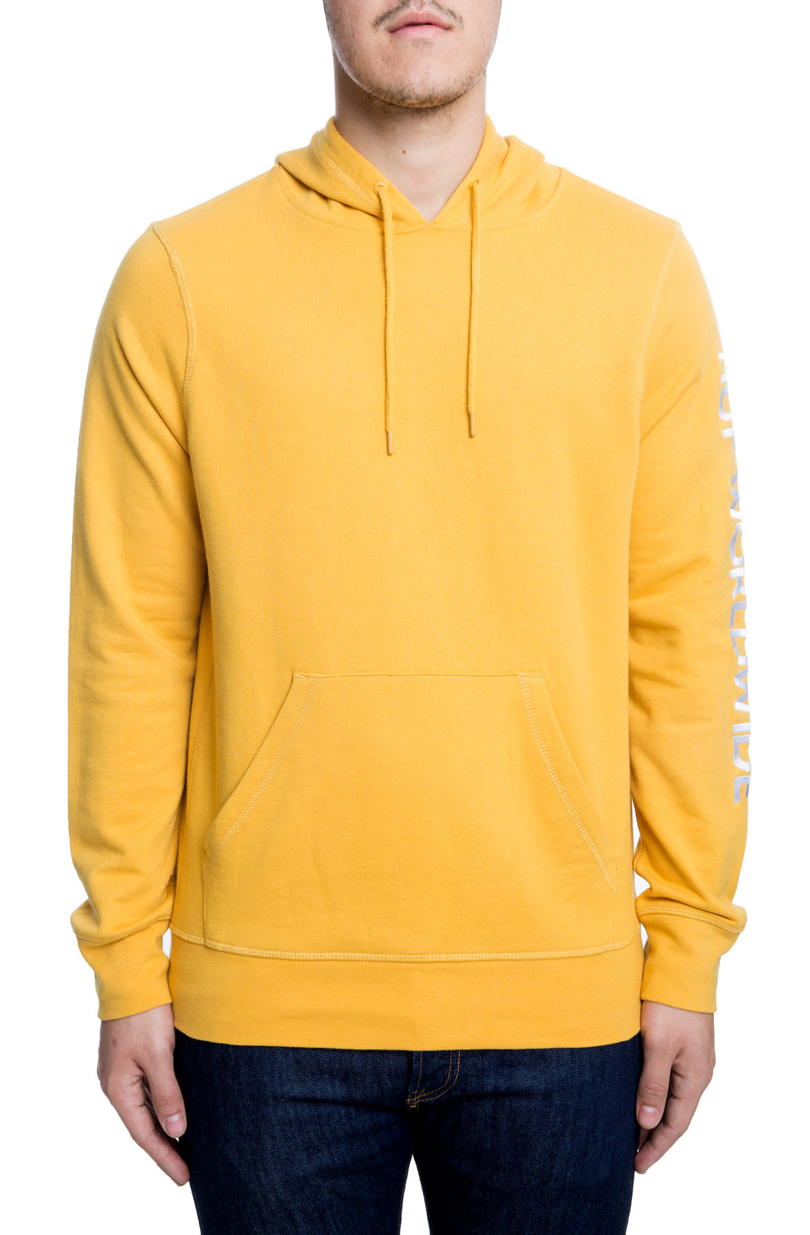 Image of The Mission Pullover Hoodie in Mineral Yellow