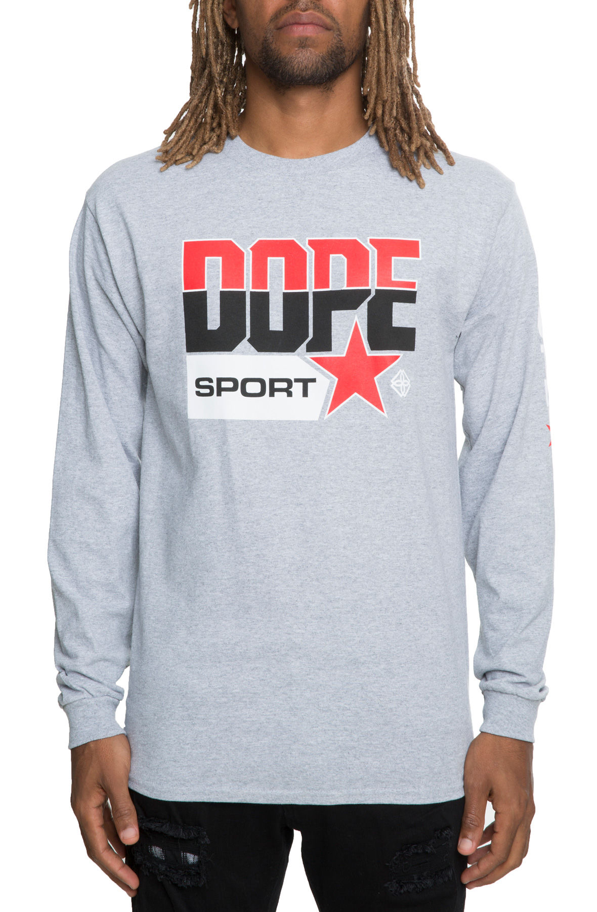 the quarterfinal long sleeve in grey