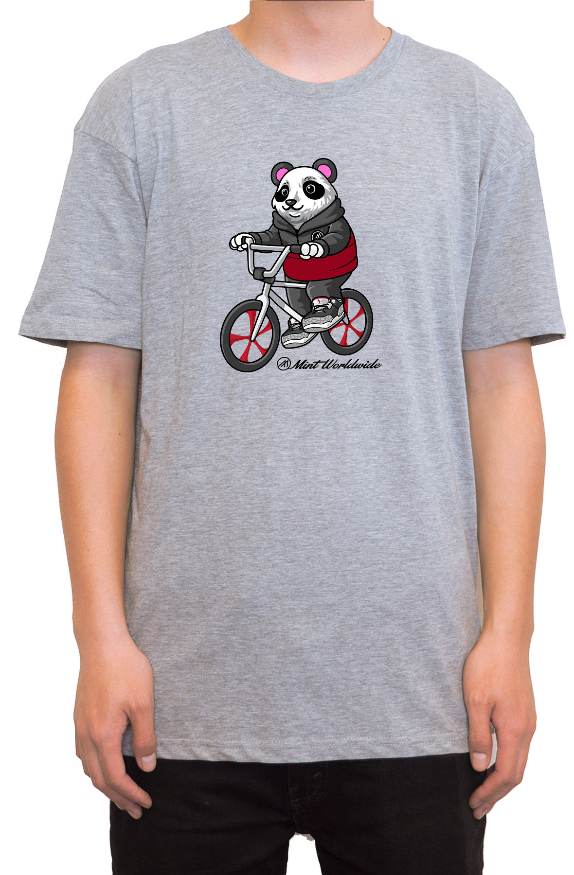 """BMX Bear T-shirt """" Heather"""