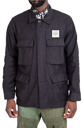 Image of The BDU Fatigue Jacket in Black
