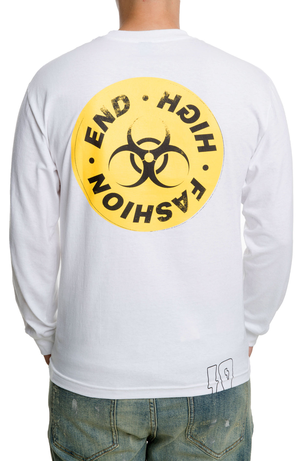 Image of The High End Toxicity L/S Tee in White