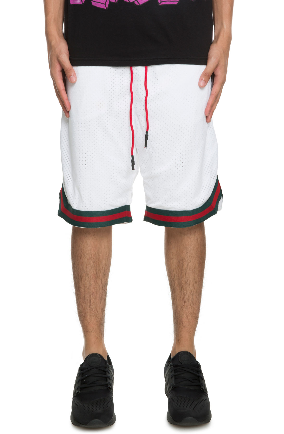 Image of The Geechi Trim Basketball shorts in White Italia Luxe