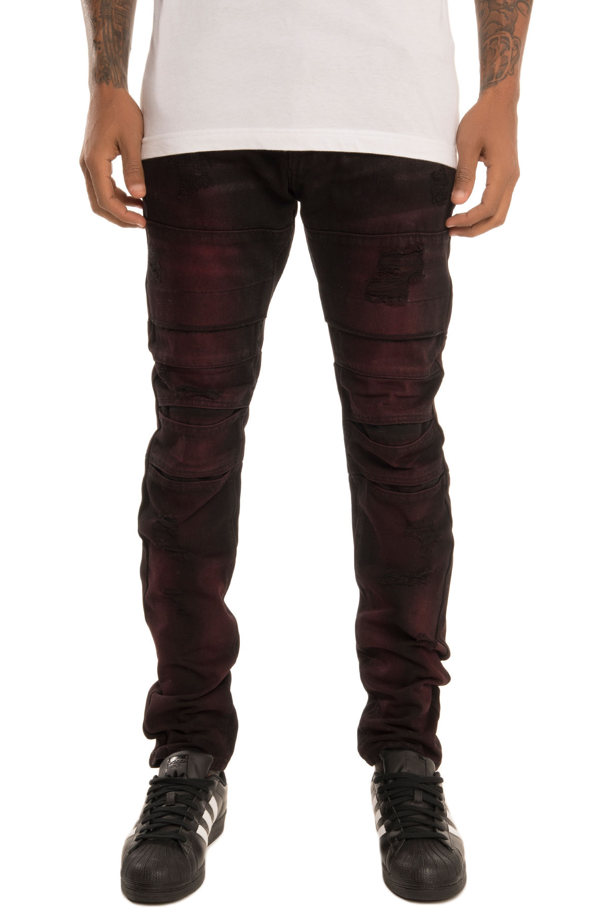 Image of SquareZero Moto Inspired Denim Jeans