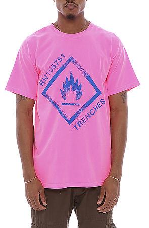 danger t shirt pink