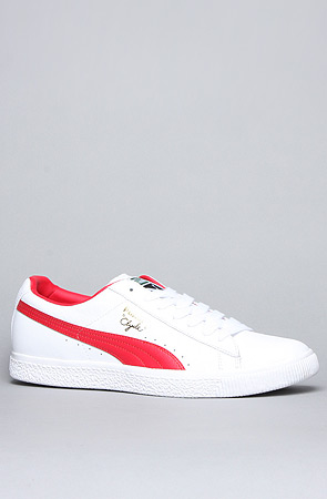 sports shoes 60f13 51948 The Clyde Leather Sneaker in White & Red