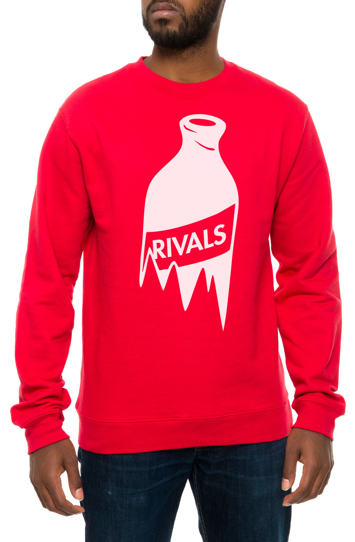 Image of The Bar Fight Crewneck Sweatshirt in Red