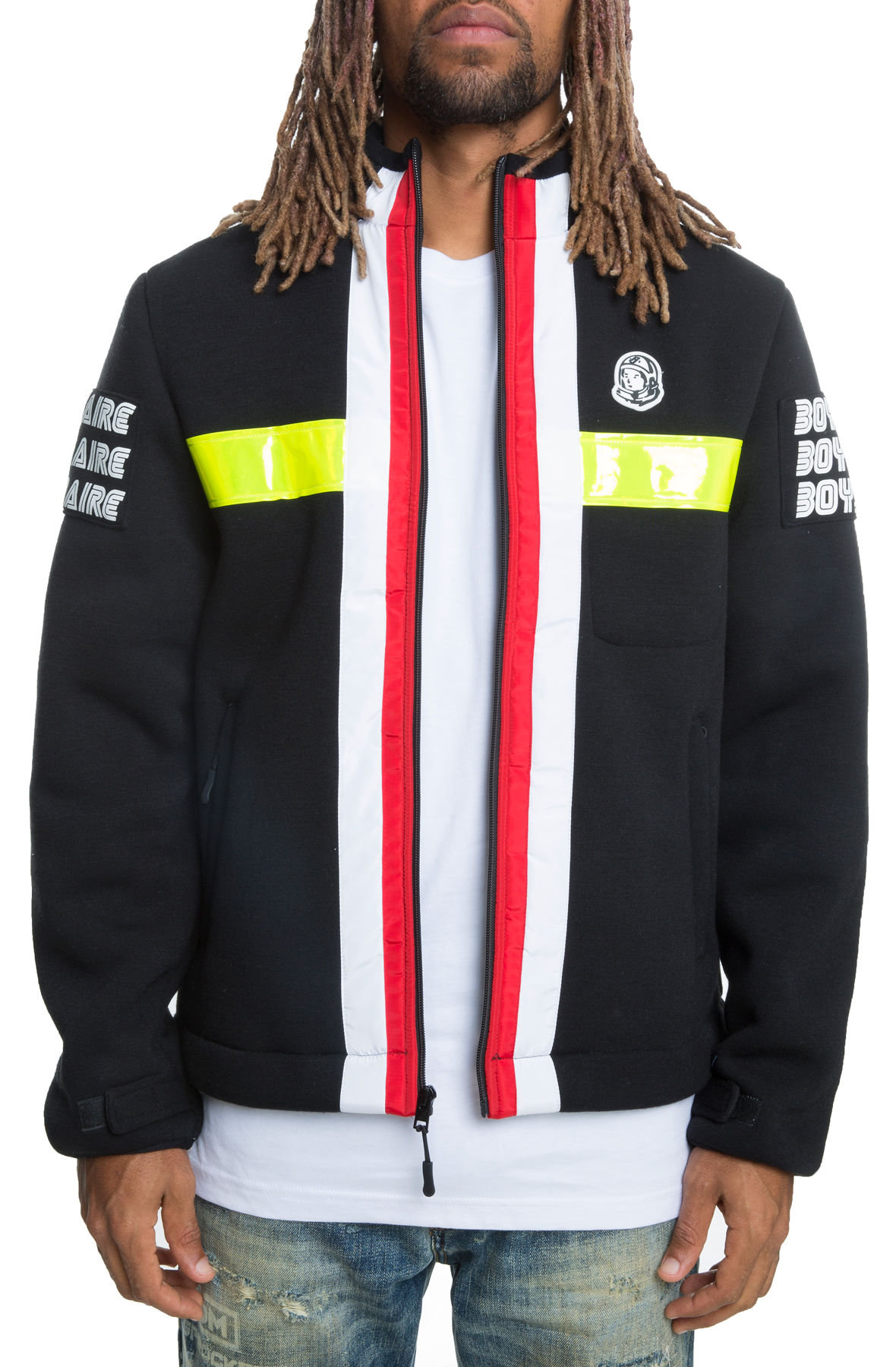 Image of The Windchill Jacket in Black and Red