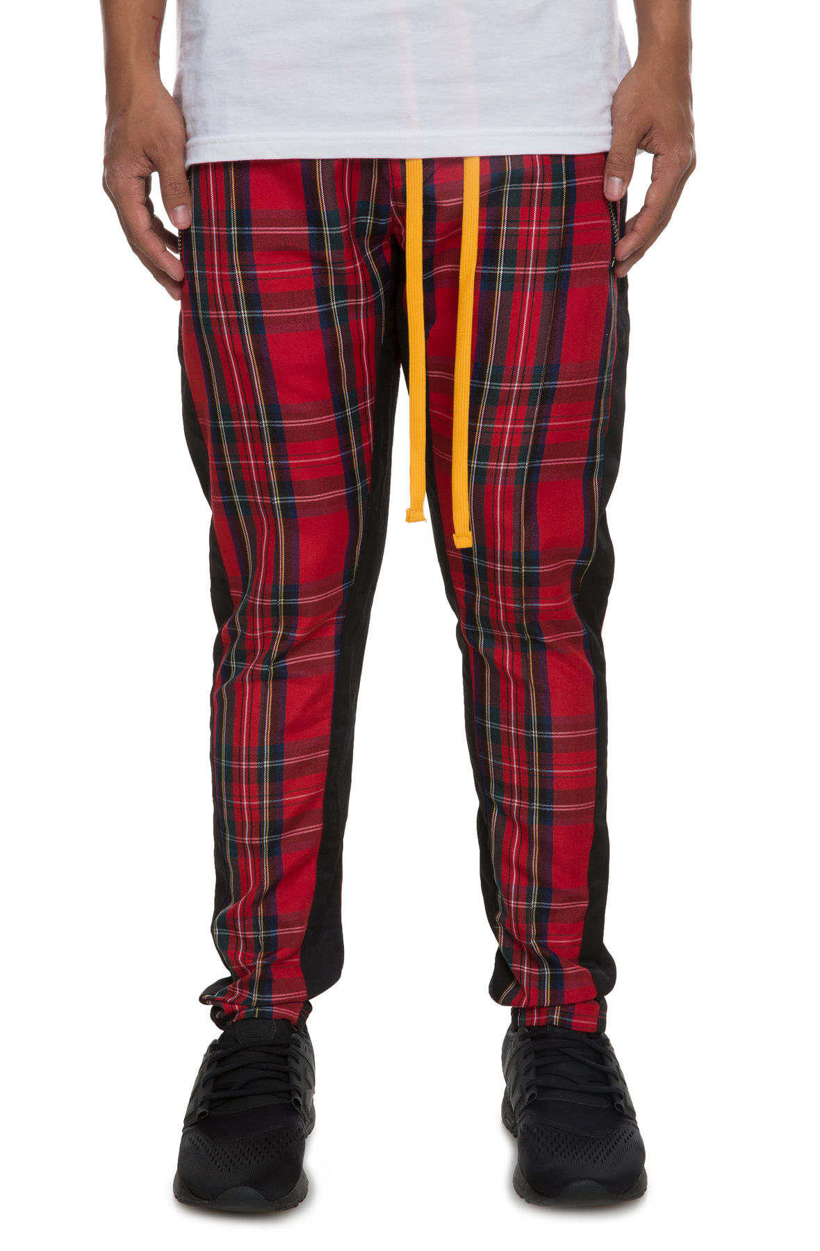 Image of The Tartan Track Pants in Red