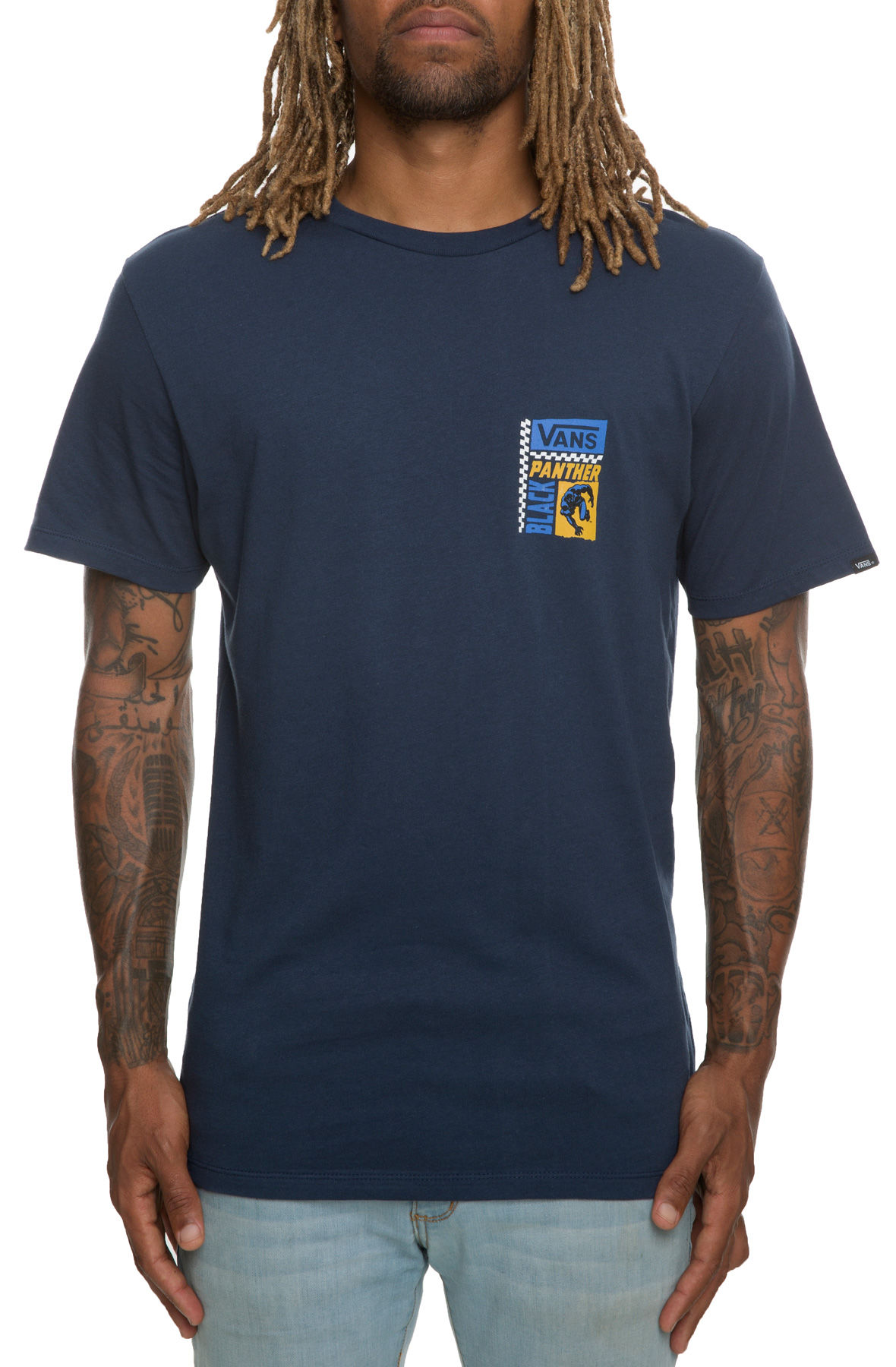 Image of The Vans x Marvel Black Panther Tee in Dress Blues