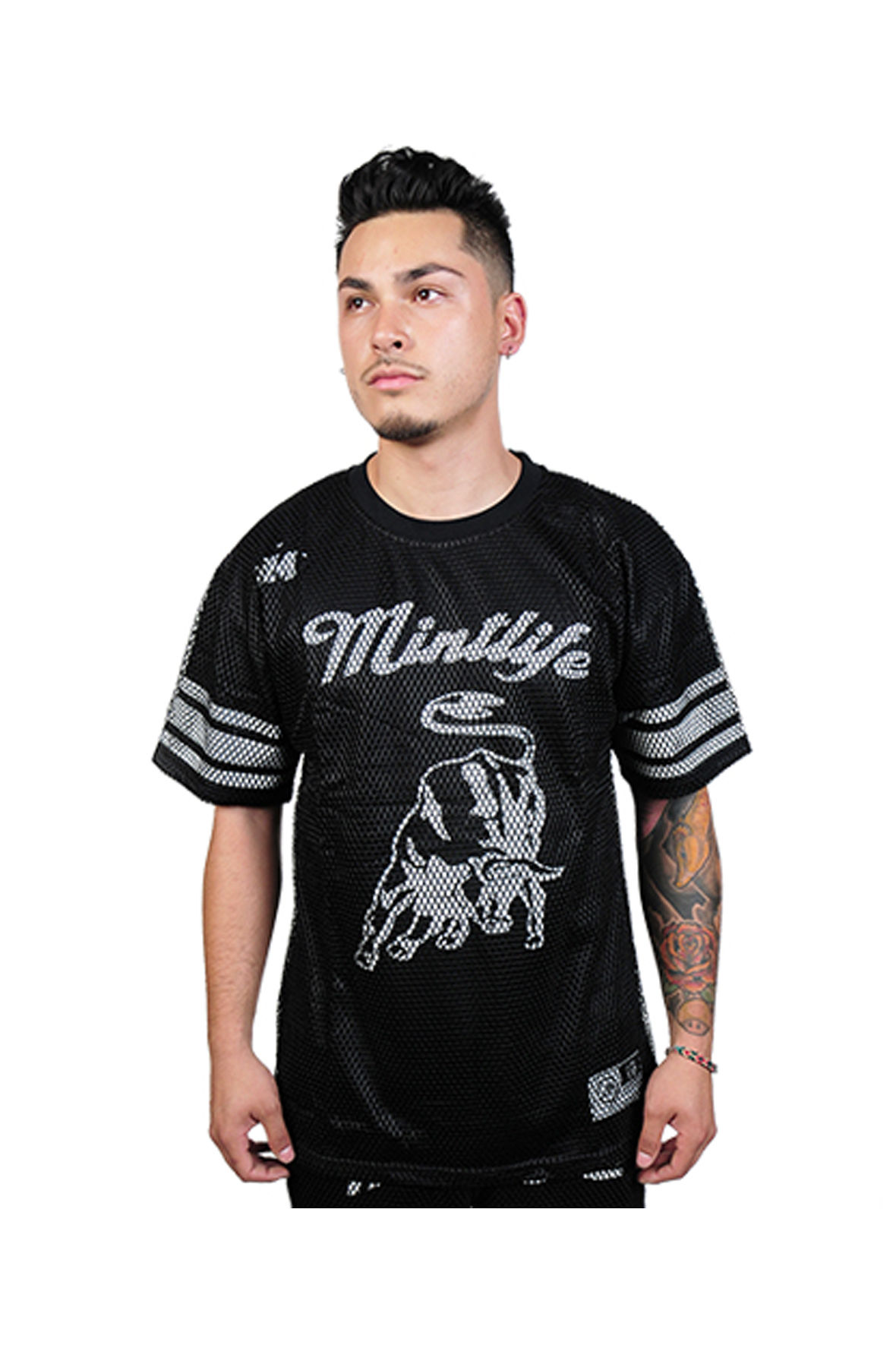 Mint Bison Jersey Tee (Black)