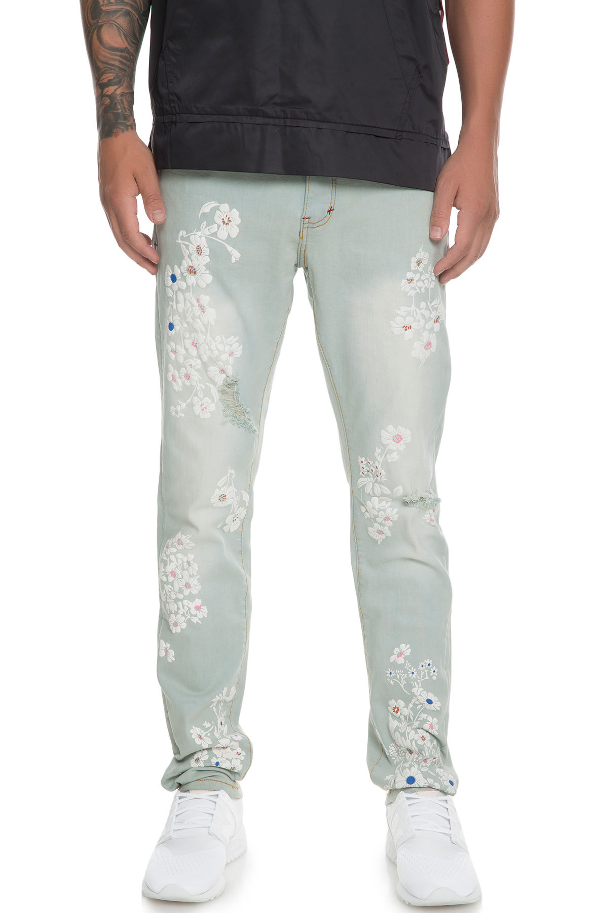 Image of The Cria Denim Jeans in Sandwash Floral