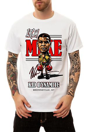 Image of The Iron Mike Caricature T-Shirt in White