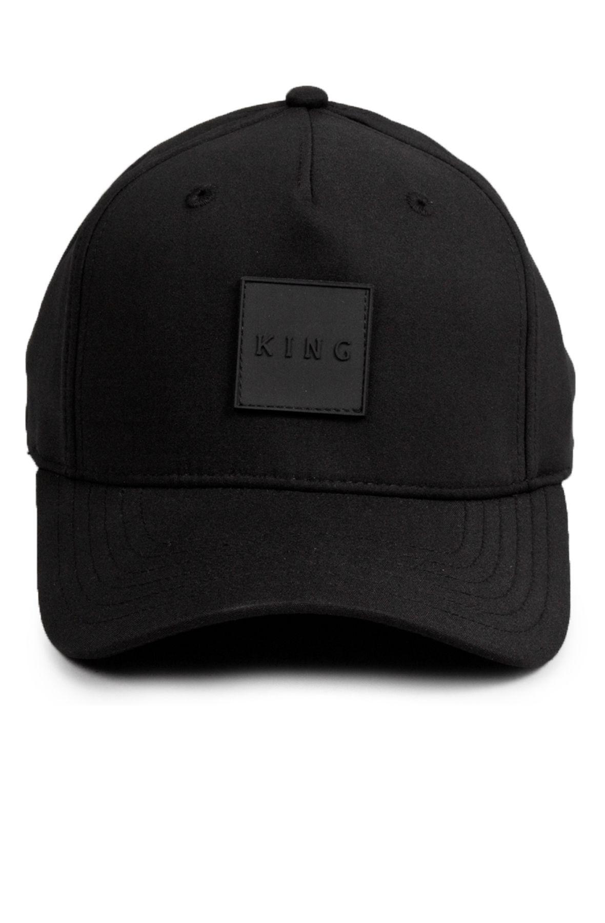 clapton curved peak cap black