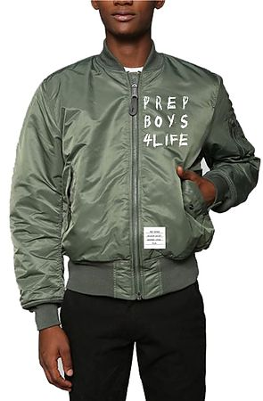 Image of The Prep Boys 4 Life Lightweight MA-1 Bomber in Army Green