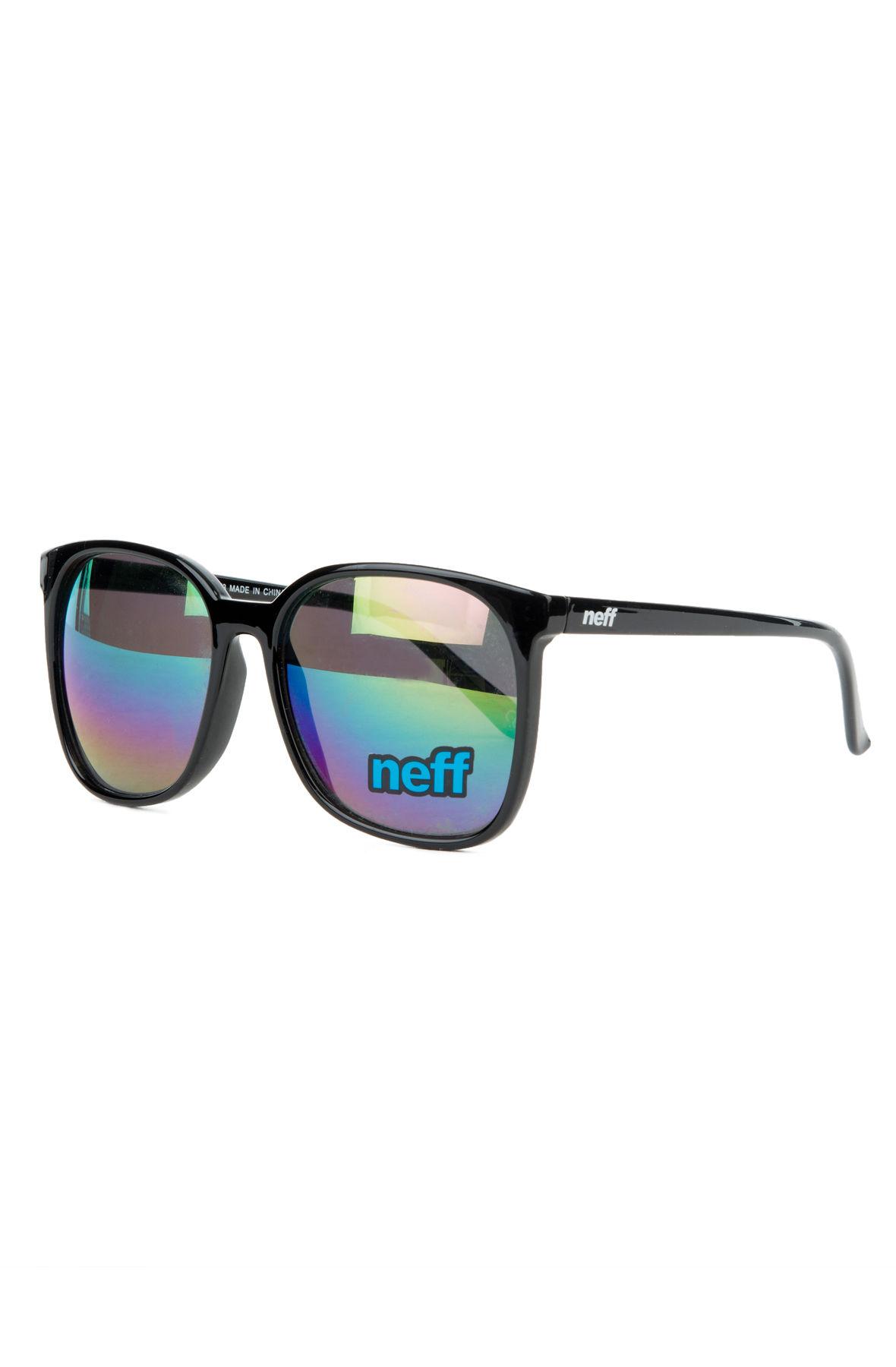 the women's oversized shield sunglasses in black