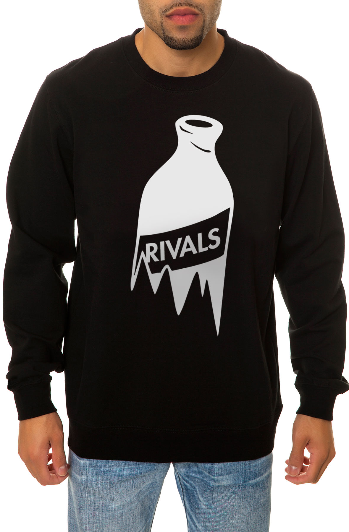 Image of The Bar Fight Crewneck Sweatshirt in Black