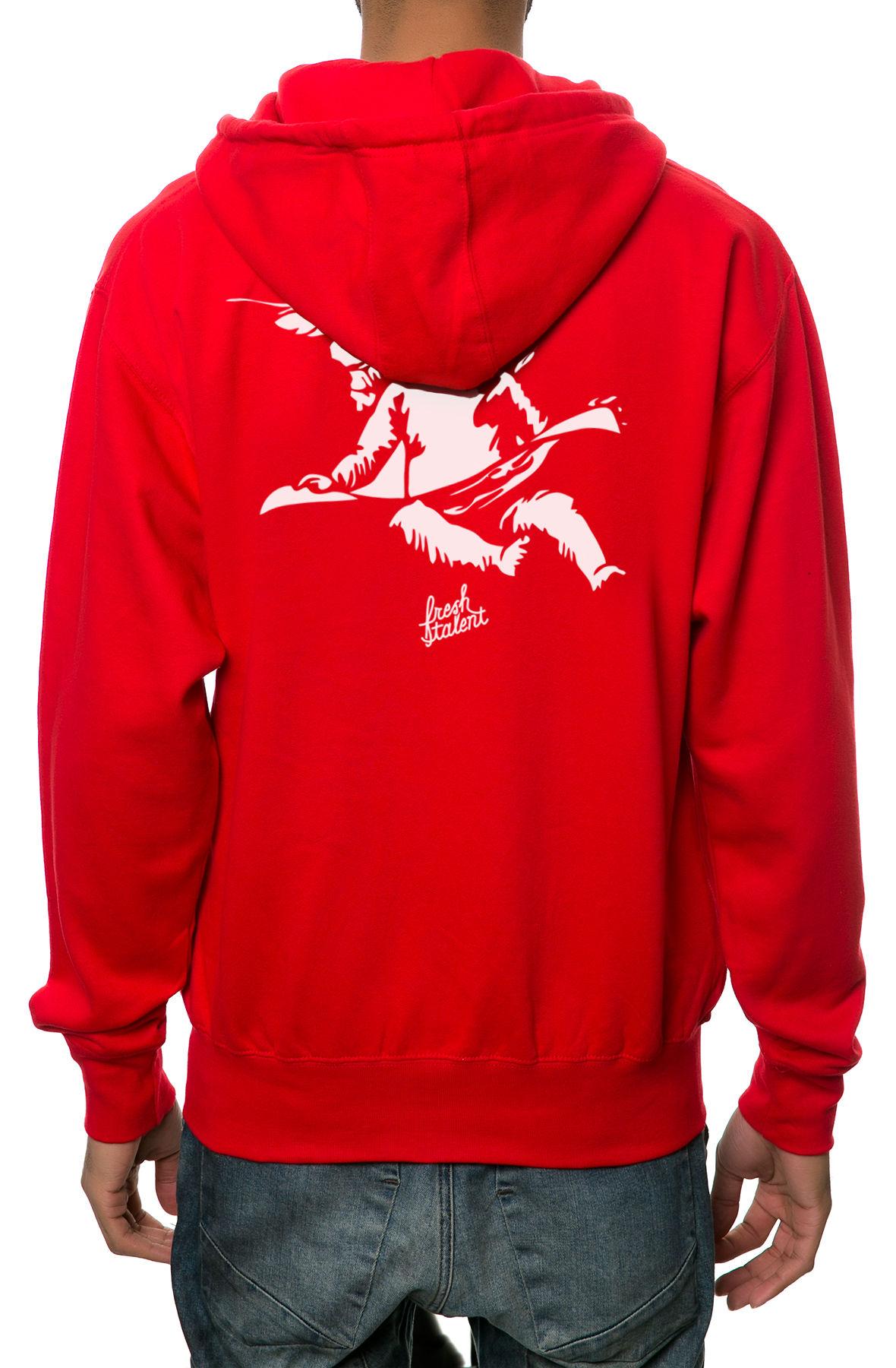 Image of The Cherub Zip-Up Hoodie in Red