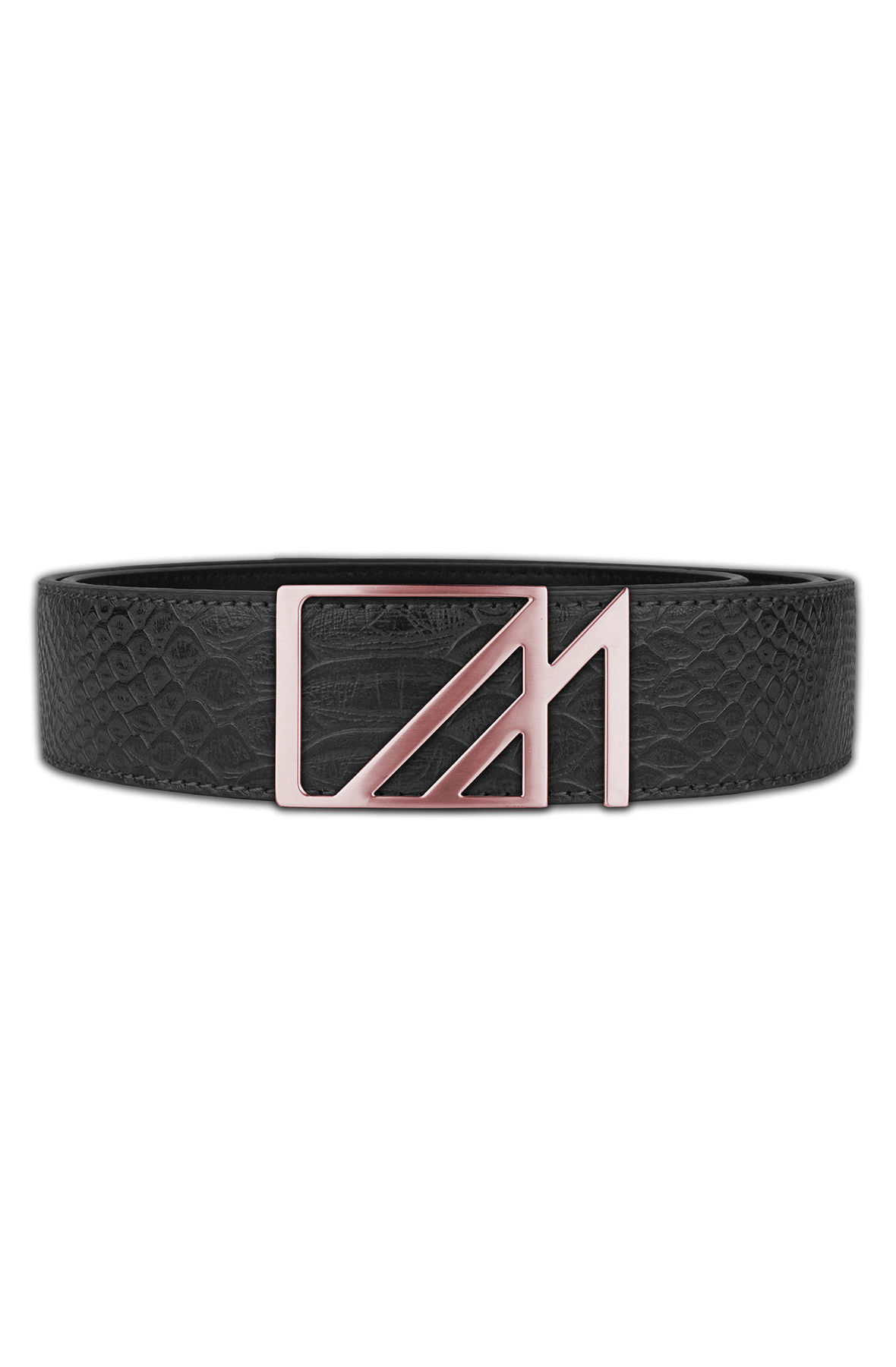 Image of The Anaconda Rose Square M Belt in Black