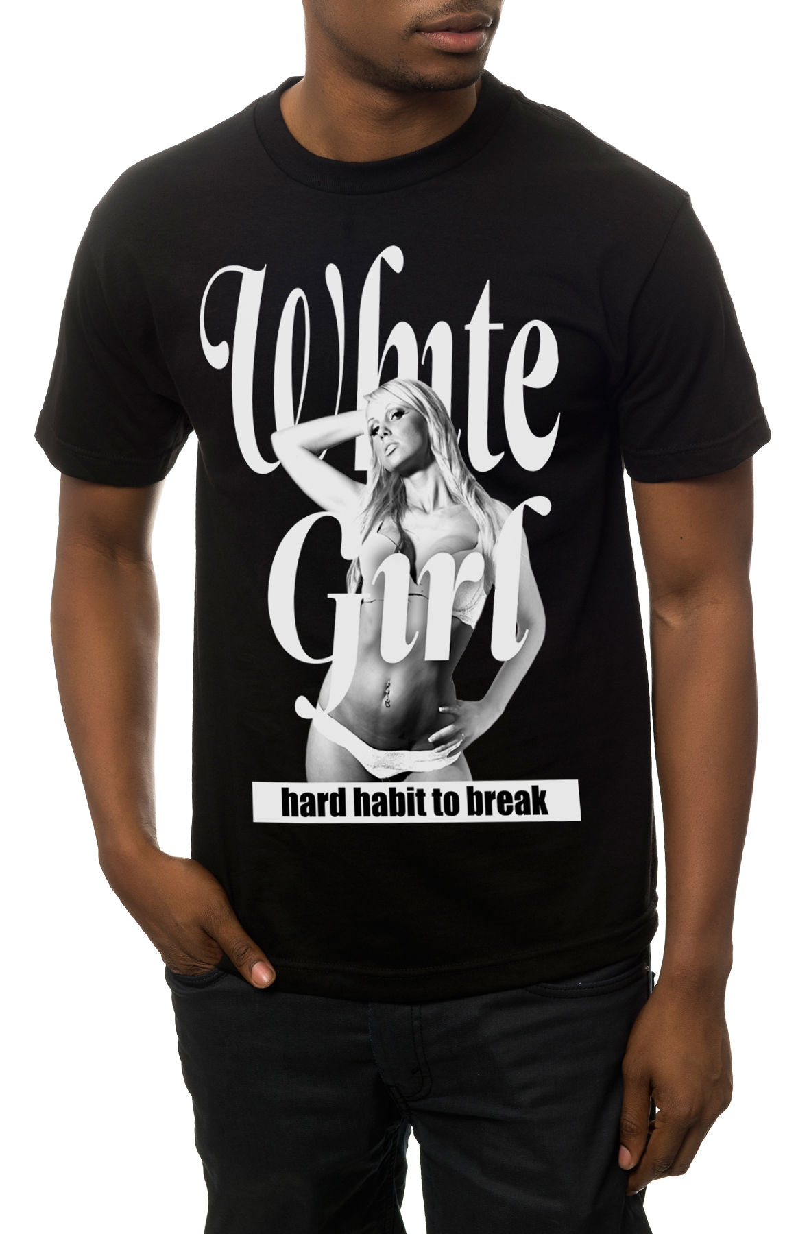 The White Girl Tee in Black