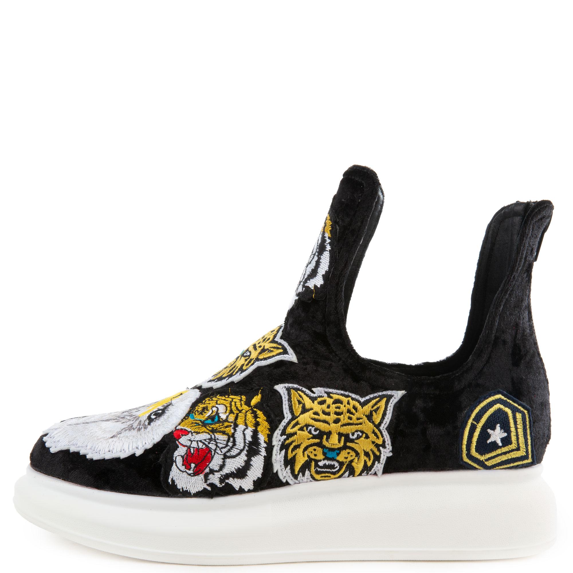 Women's Odela Ptc Black Velvet Sneaker
