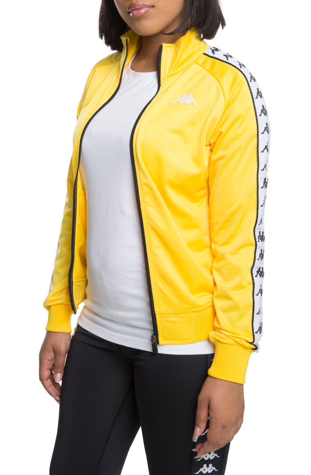 7e77d199a6 222 Banda Wanniston Slim Alternating Banda Track Jacket in Yellow