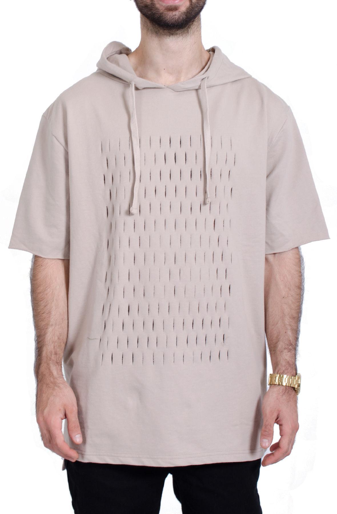 Image of Oversized Razor's Edge Hoodie in Warm Khaki