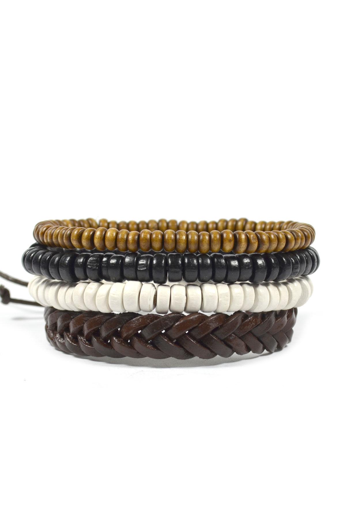 4 Pack Men's Original Bracelet Set