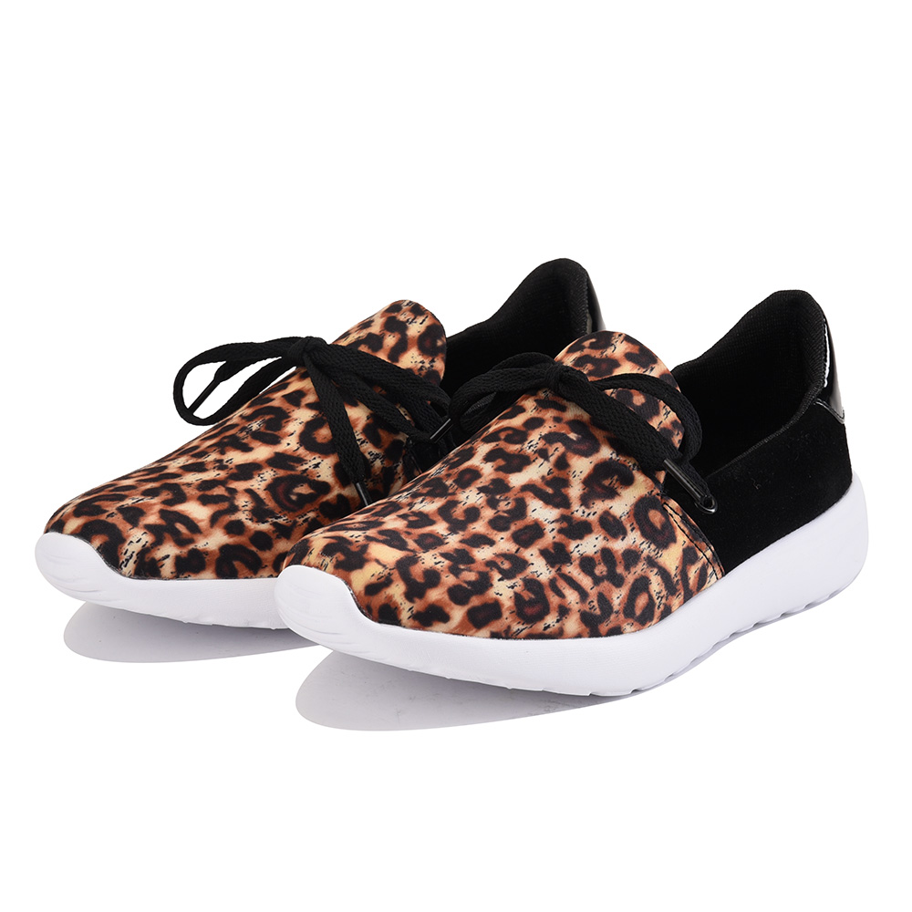 Image of Y.R.U. for Women: Beem Leopard Sneaker