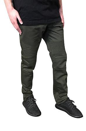 Image of Cotton Biker Jeans (Olive)