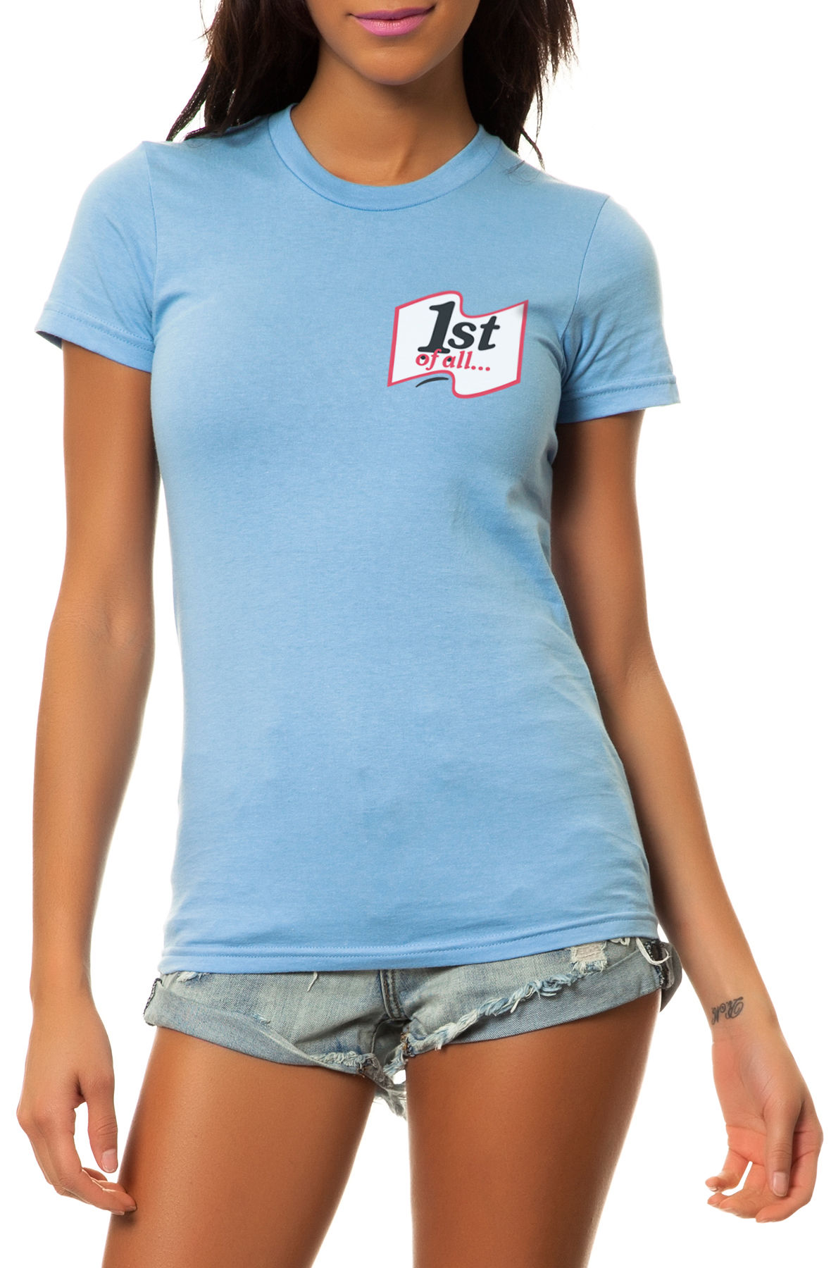The 1st of All Tee in Baby Blue