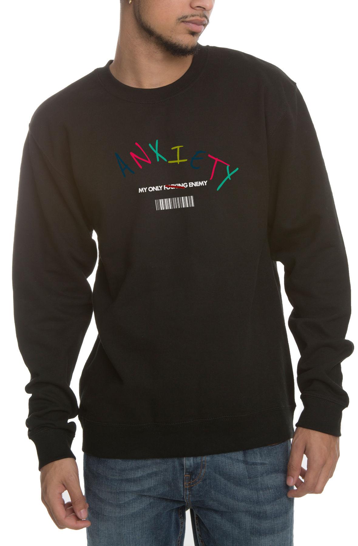 The My Only Enemy Crewneck Sweatshirt in Black