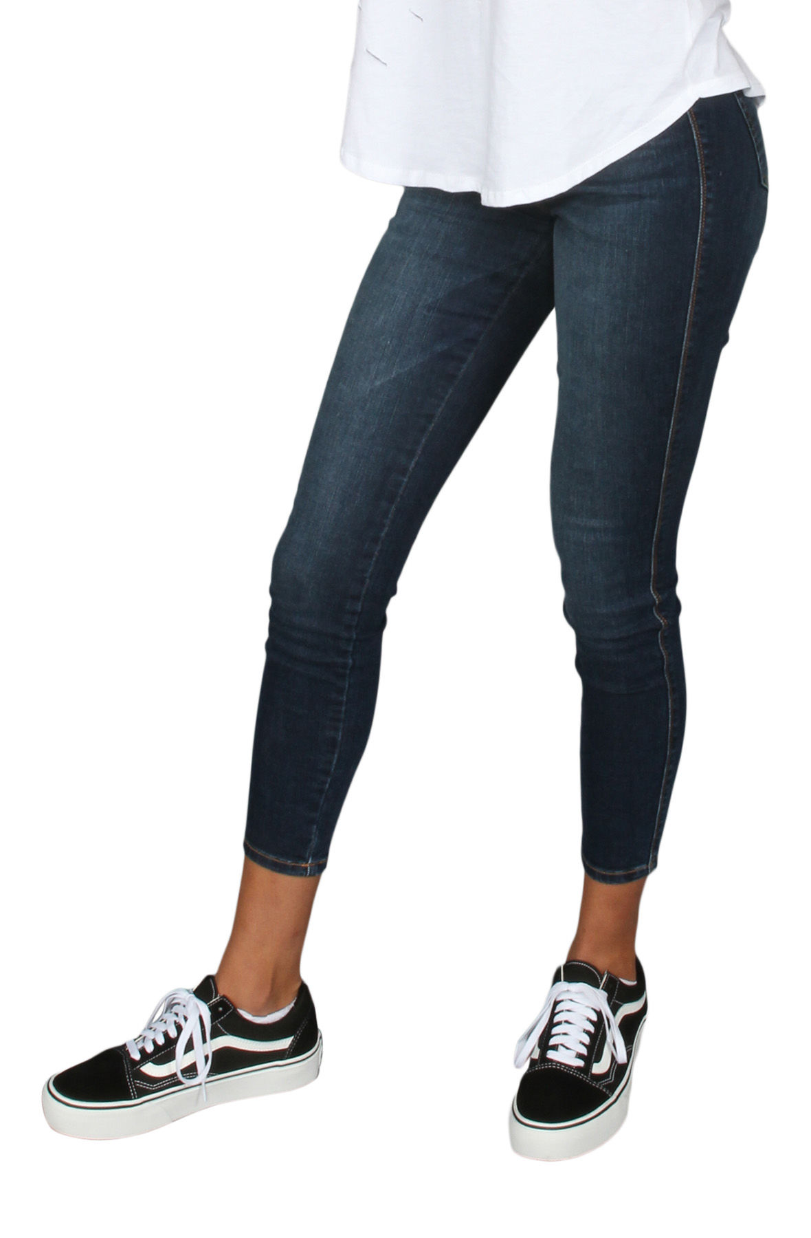 Image of The High Rise Skinny Jeans in Dark Denim