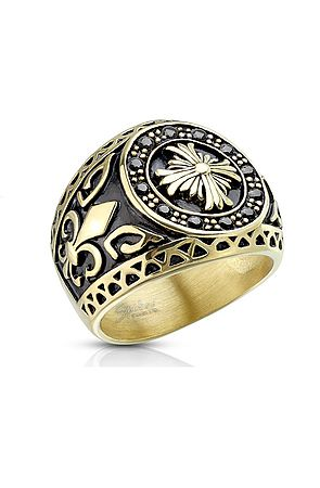 Image of The Encircled Celtic Cross Ring - Gold