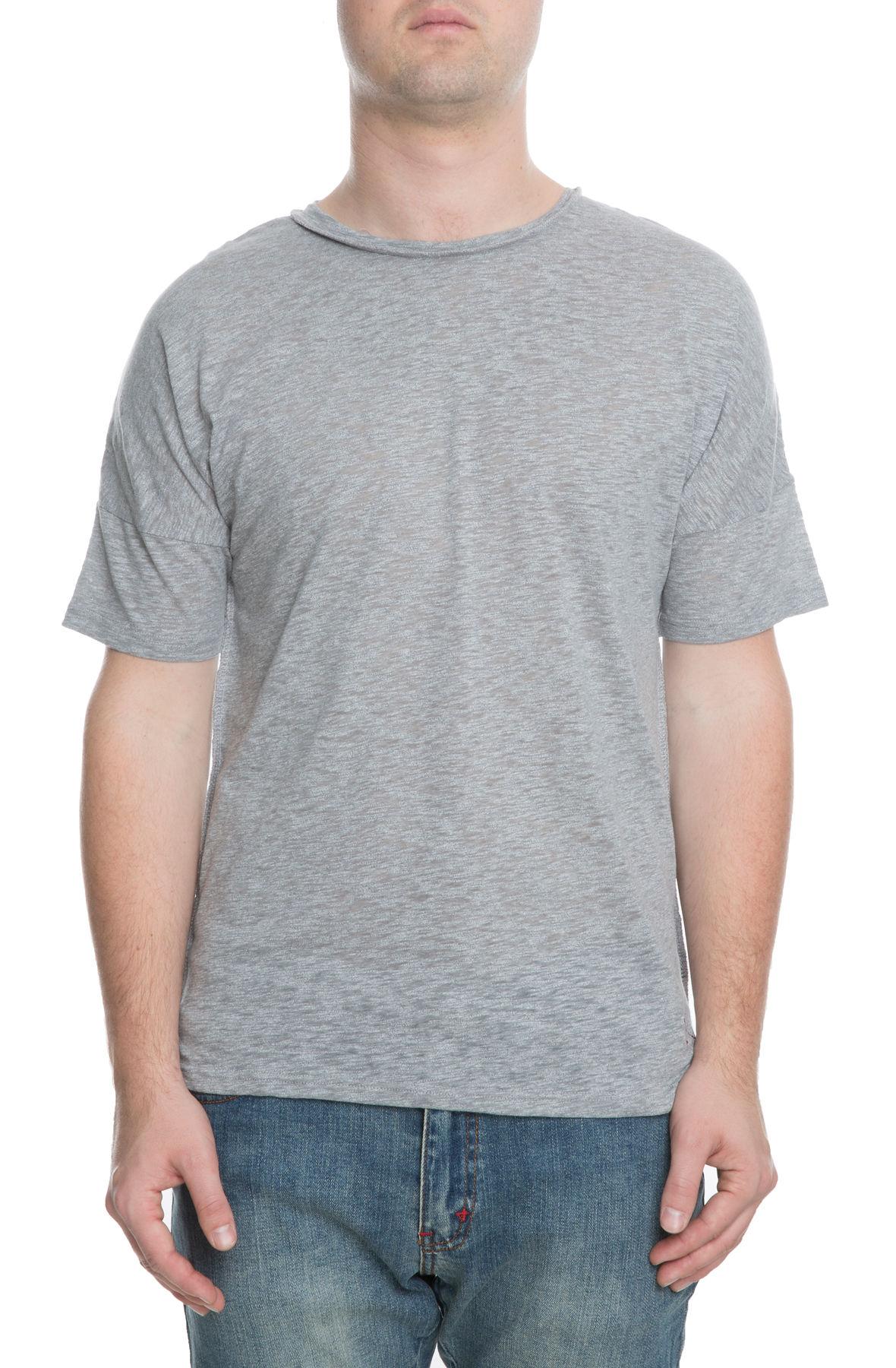 The Gator Off Shoulder Tee in Grey