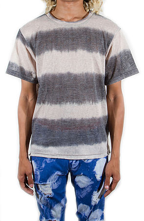Image of Venice Knitted Short Sleeve Tan Gray