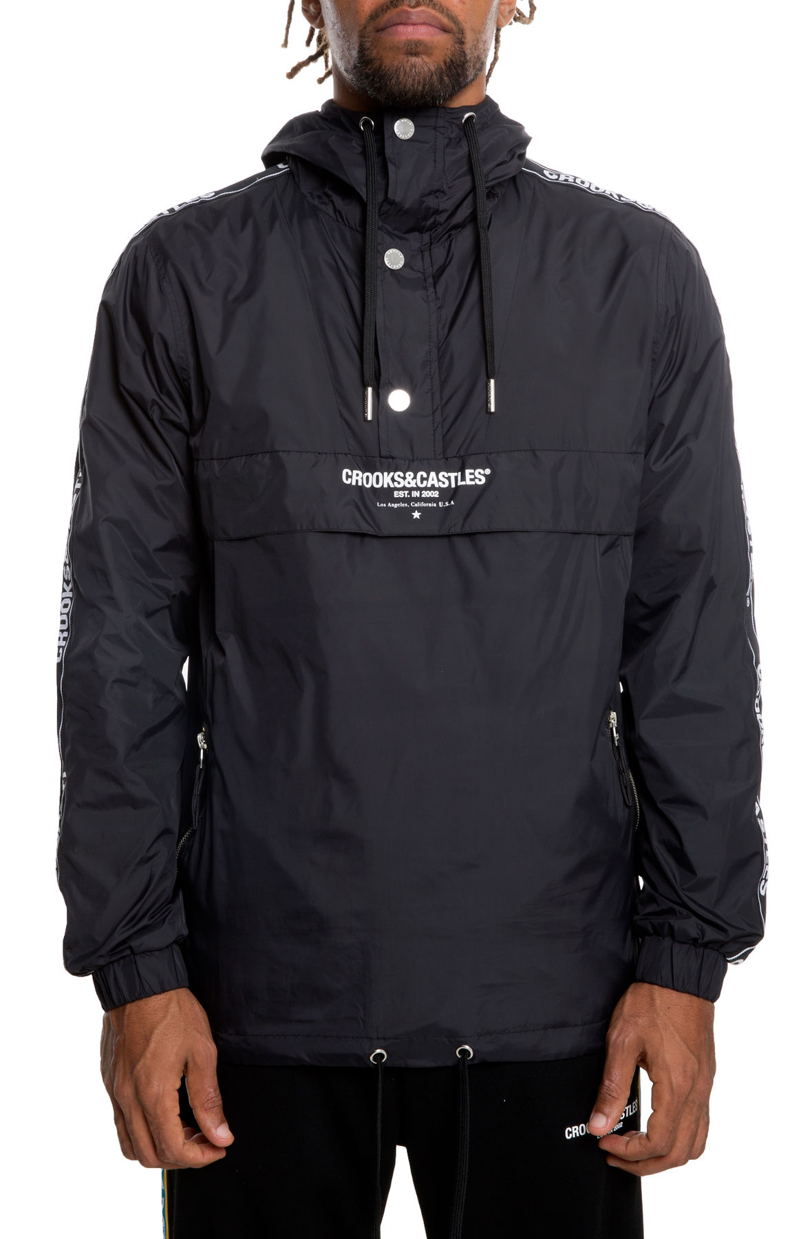 Image of The Core Taped Anorak in Black