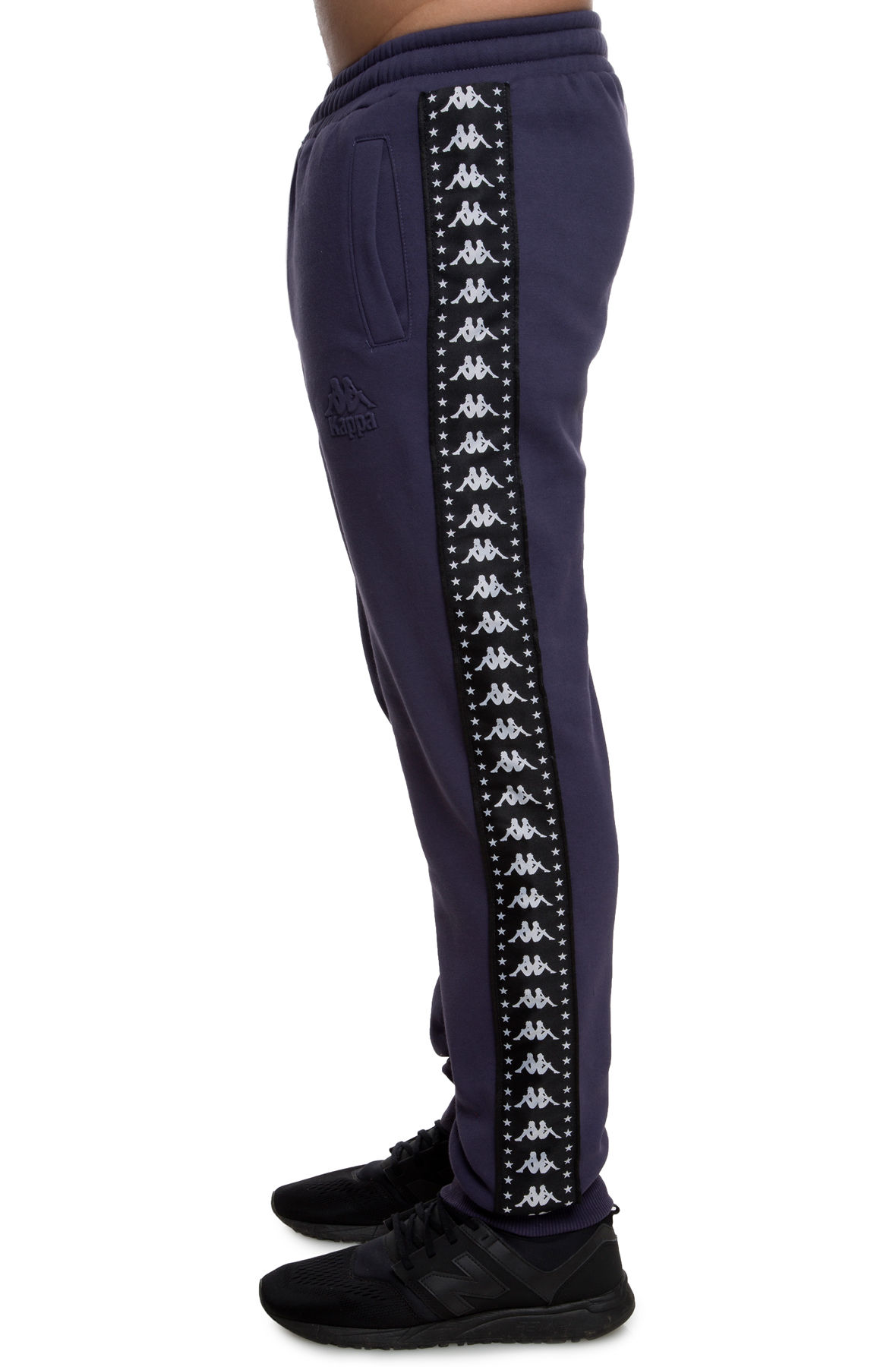 Image of The AUTHENTIC BZALIW FLEECE PANT in Greystone Blue and Black