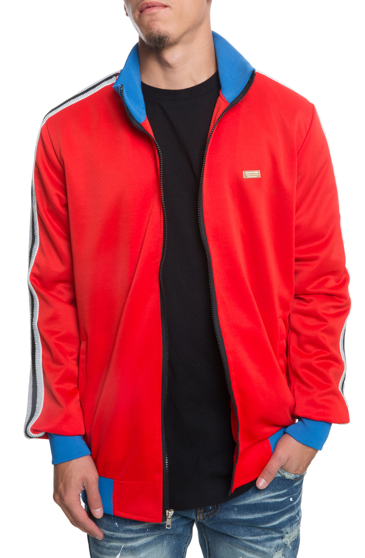 Image of The Melrose Track Jacket in Red