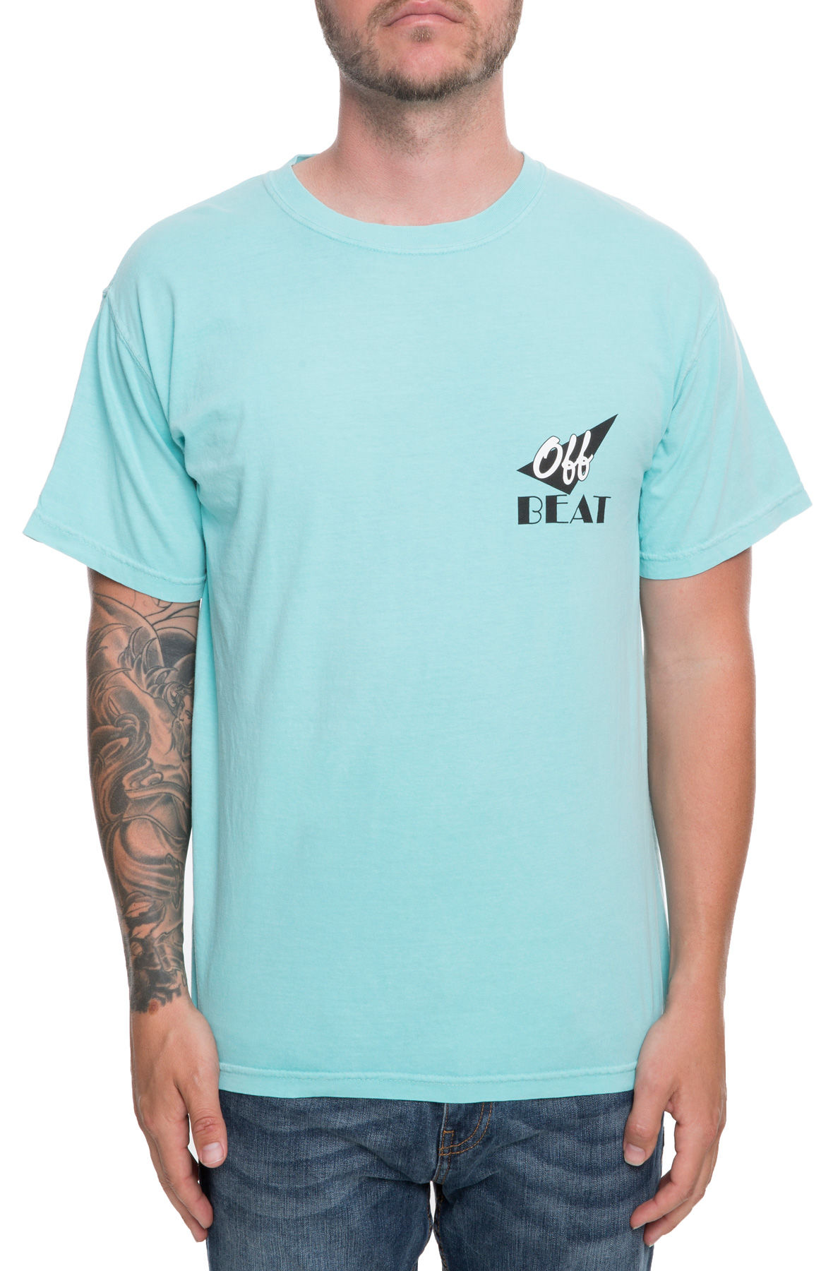 Image of The Off Beat Tee in Chalky Mint
